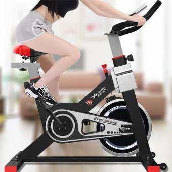 B&G SPIN BIKE จักรยานออกกำลังกาย Exercise Fitness Spin Bike Commercial Grade ระบบสายพาน (Black) - รุ-