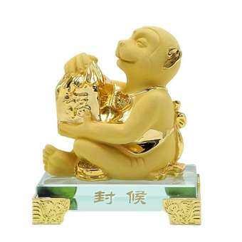 SeaSunFengShui ลิง เรซิ่นทรายทอง(Gold)