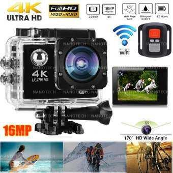2018 กล้องกันน้ำ ถ่ายใต้น้ำ พร้อมรีโมท Sport camera Action camera 4K Ultra HD waterproof WIFI FREE R-