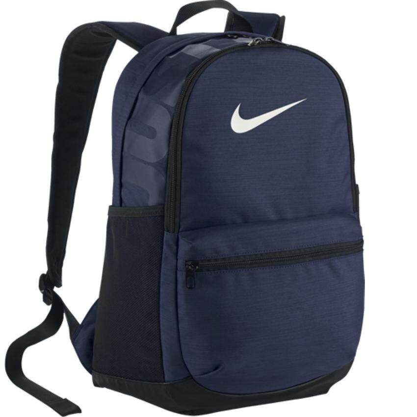 Nike กระเป๋าเป้ Nike Brasilia Training Backpack 24L BA5329-410 (Navy/Black/White)