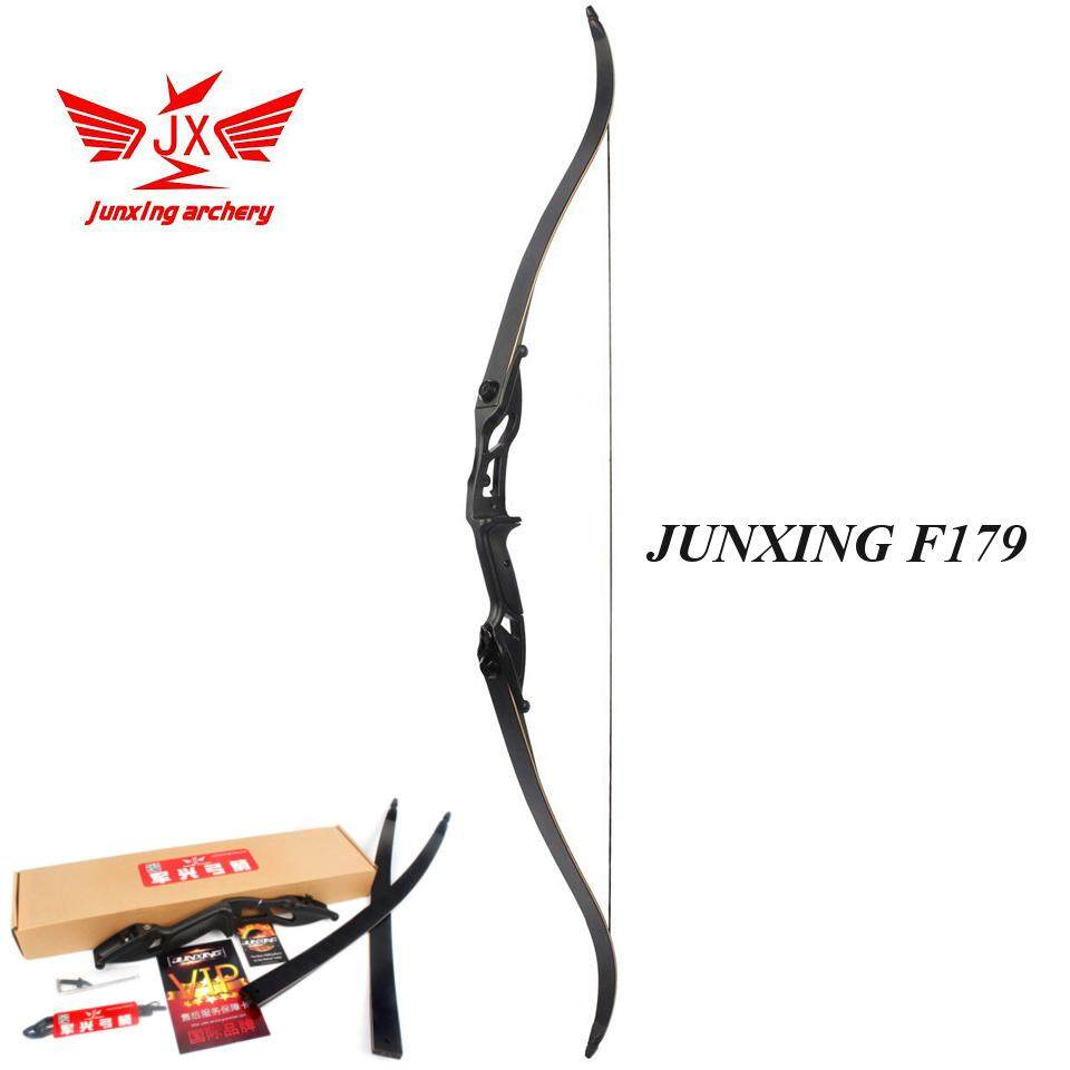 [มือขวา RH] 45LBS Black Adult Archery Recurve Bow American Hunting Target Fishing Take Down JUNXING F179 ธนู