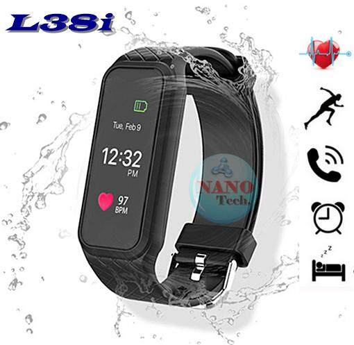 Nanotech New Arrive 2018 หน้าจอสี รุ่นล่าสุด Color Screen Heart Rate Monitor LED Display Watch Touch Screen Bluetooth IOS Android - สีดำ