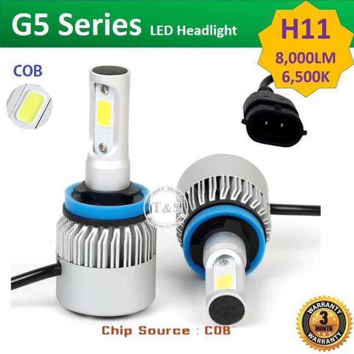ราคา LED ไฟหน้ารถยนต์ LED รุ่น G5 ขั้วหลอด H11