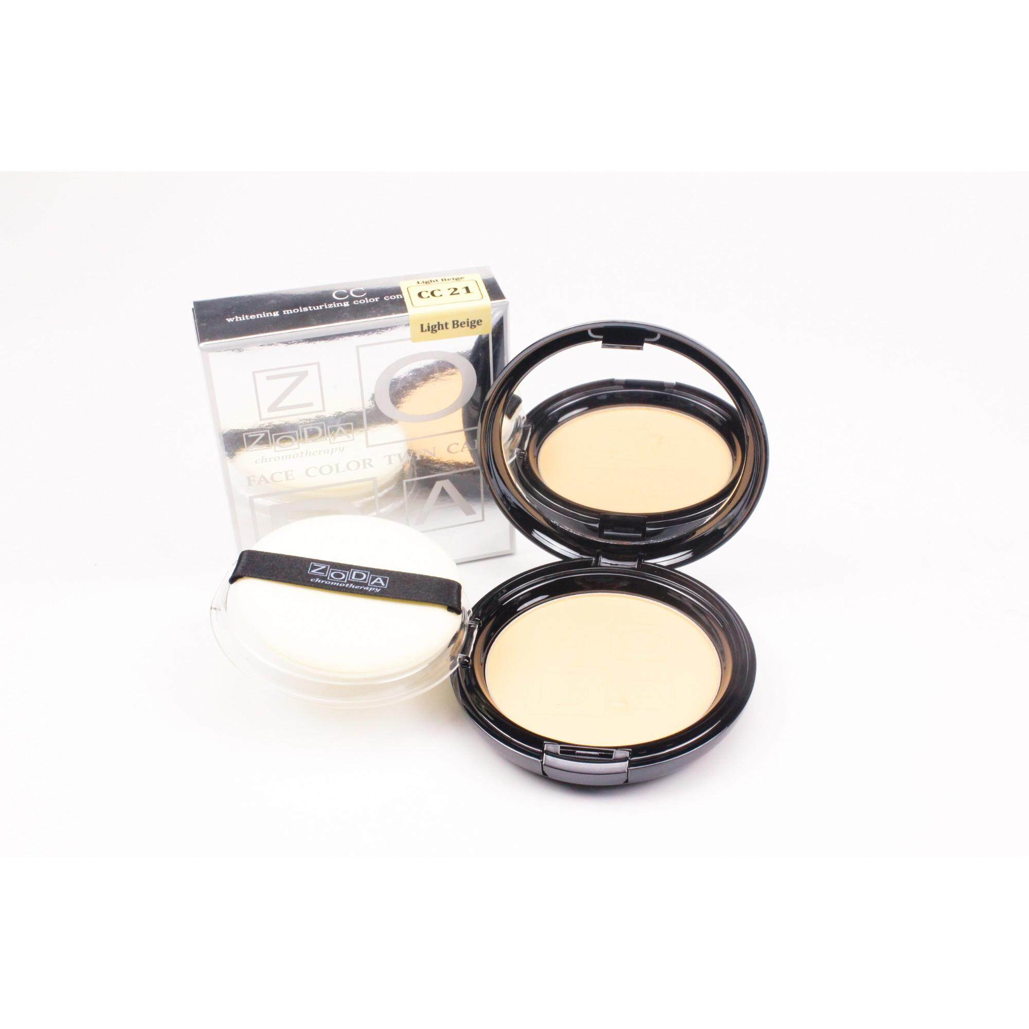 ZODA FACE COLOR TWIN CAKE CC NO.21 Light Beige