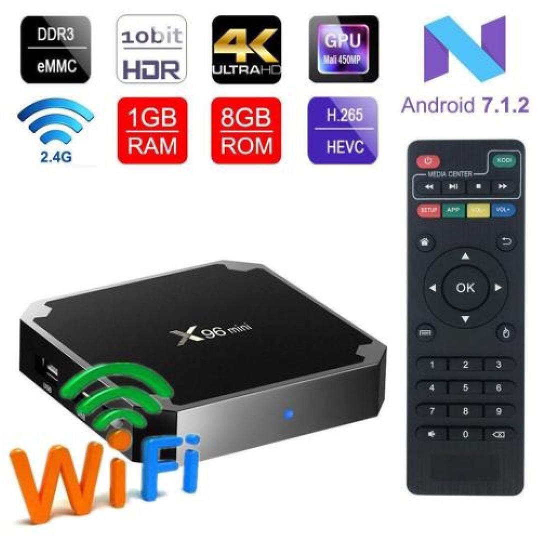 สอนใช้งาน  สิงห์บุรี กล่องแอนดรอยด์ทีวี Android 7.1.2 BOX สมาร์ททีวี แอนดรอยด์ทีวี ดิจิตอลแอนดรอยด์ทีวี แอนดรอยด์บ็อกซ์ Android TV Box Smart TV Box รุ่น X96 mini S905W 4K Ram 1 GB   Rom 8 GB