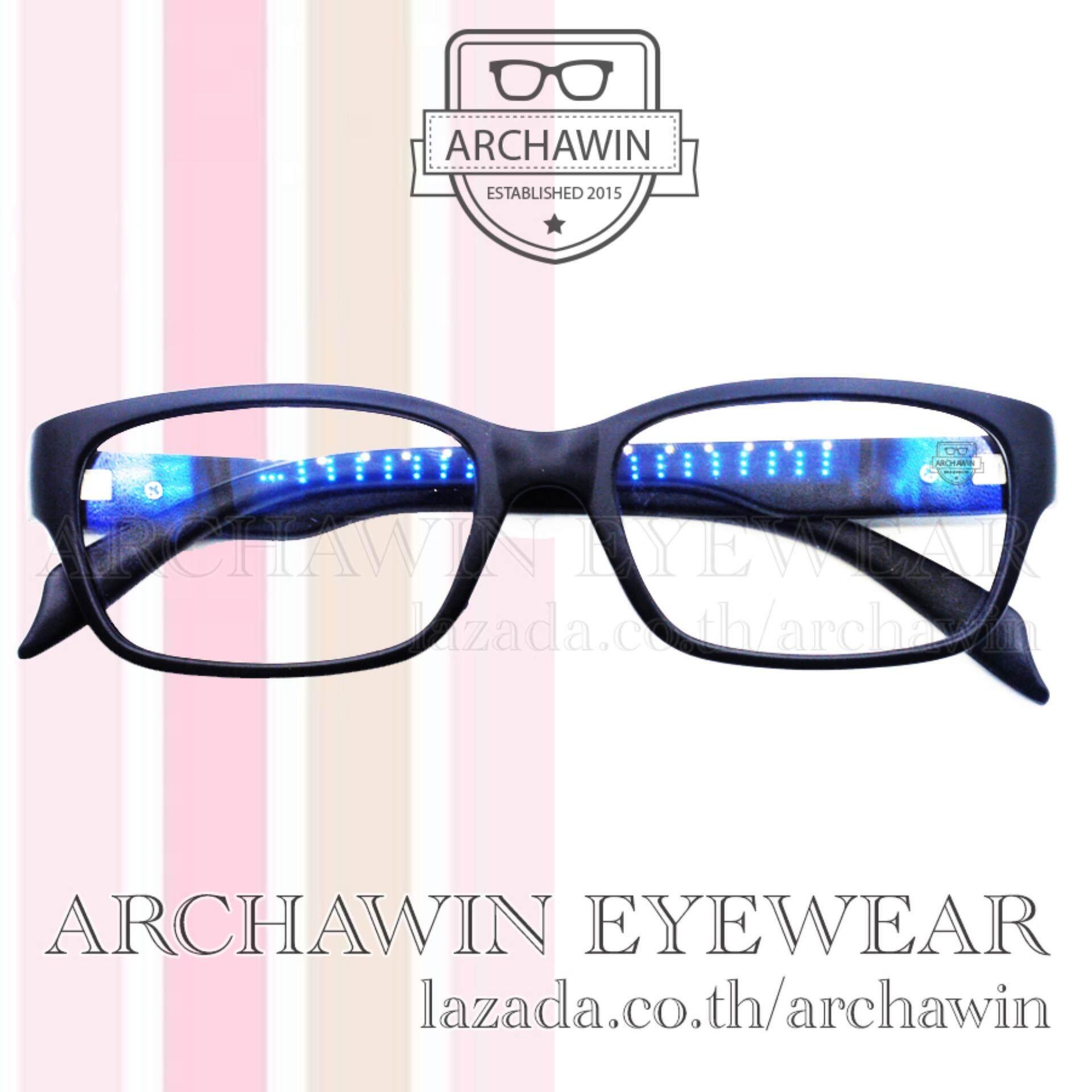 Image 2 for แว่นสายตา แว่นสายตาสั้น ทรงสี่เหลี่ยม พร้อมกรองแสงคอม รุ่น 1287 J1 ค่าสายตา -200