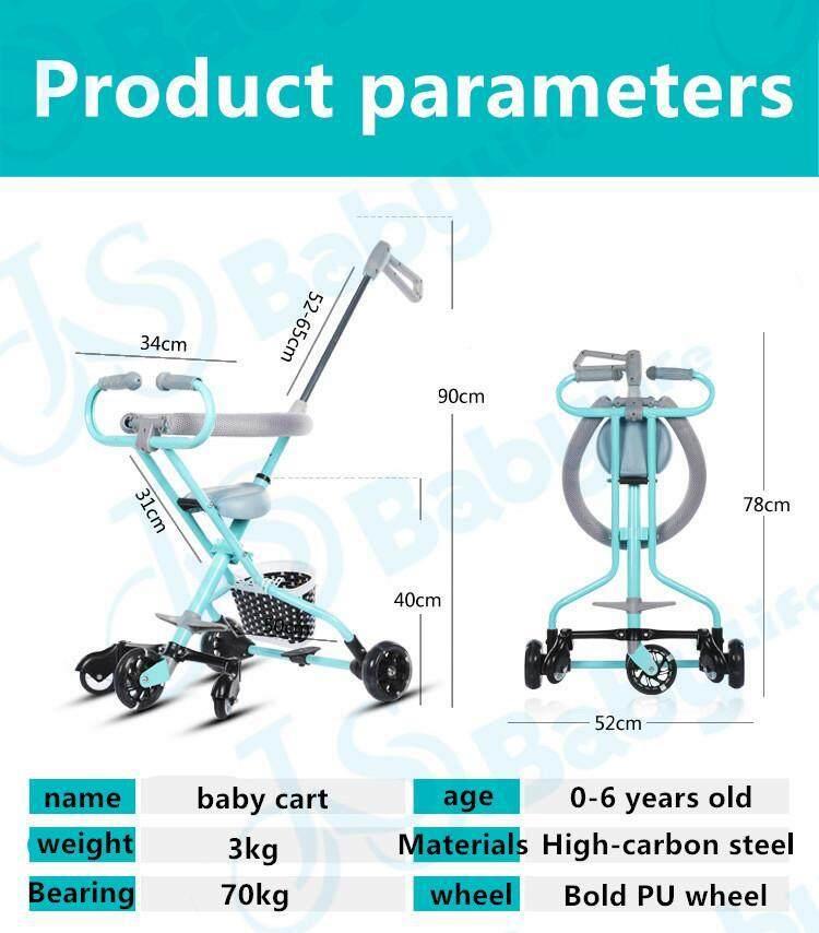 คูปอง ส่วนลด เมื่อซื้อ madeinsure รถเข็นเด็กแบบนอน รถเข็นเด็กพับได้ น้ำหนักเบา 4.8kg  FGT 25881 ปรับได้ 3 ระดับ (นั่ง/เอน/นอน) เข็นหน้า-หลังได้ ของแถมเพียบ อ่านรีวิวจากผู้ซื้อจริง