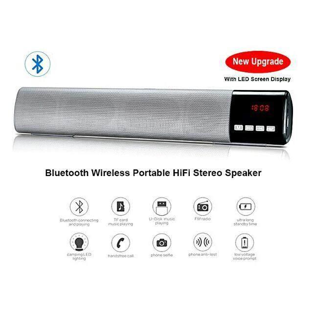 Sale ส่งท้ายปีท็อป 1 ดีที่สุด เครื่องเสียงและโฮมเธียร์เตอร์ None Bluetooth Speaker & Sound Bar B28S ลำโพงบลูทูธทรงยาว เปรียบเทียบราคาที่ดีที่สุด