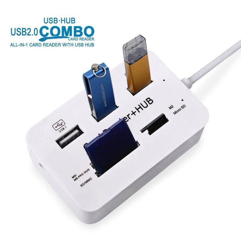 Micro USB Hub 3.0 Combo 3 Ports Card Reader High Speed USB Splitter All In One