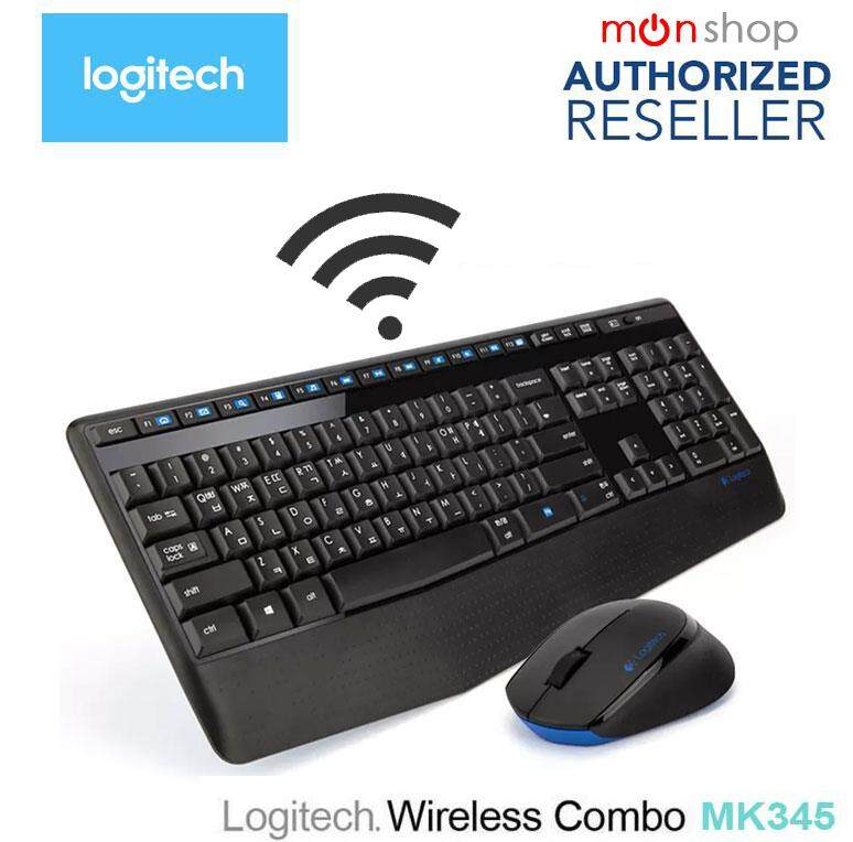 Logitech Wireless Combo MK345 - TH pad(Black) (แป้นพิมพ์ไทย/Eng)