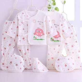 Set 7 ชิ้น สำหรับเด็กแรกเกิด 0-3 เดือน (น้ำหนัก 3-5 kg.) ผ้าคอตตอน สินค้าพร้อมส่งทันที AS155-