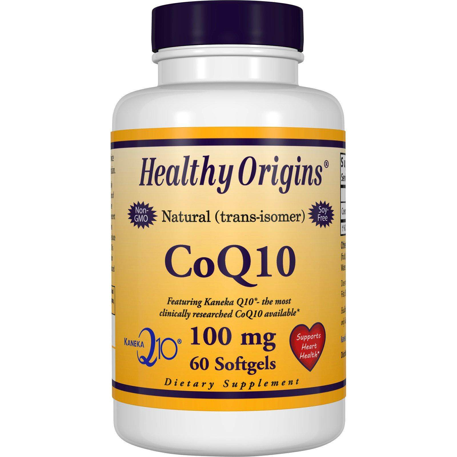 Healthy Origins, CoQ10, 100 mg, 60 แคปซูล