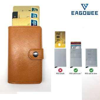 EAGOWEE RFID กรณีบัตรเครดิต, กระเป๋าใส่ชายหญิง,กระเป๋าสตางค์ผู้ชายป้องกันการโจรกรรมที่มีกระเป๋าสตางค์ RFID ขนาดเล็กการปิดกั้นธุรกิจโดยอัตโนมัติผู้ถือบัตรใส่บัตรกรณีบัตรเครดิตกรณี Protector Black - intl-