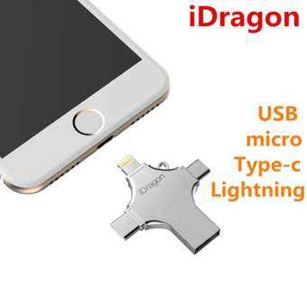 iDragon OTG iUSB Pro 16GB 32GB 64GB แฟลชไดร์ฟสำรองข้อมูล type-c 4 in 1 USB Flash Drive-