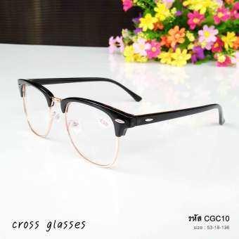 แว่นสายตาสั้น-1.50 กรอบครึ่งเฟรม ทรงยอดนิยม รุ่น CGC10