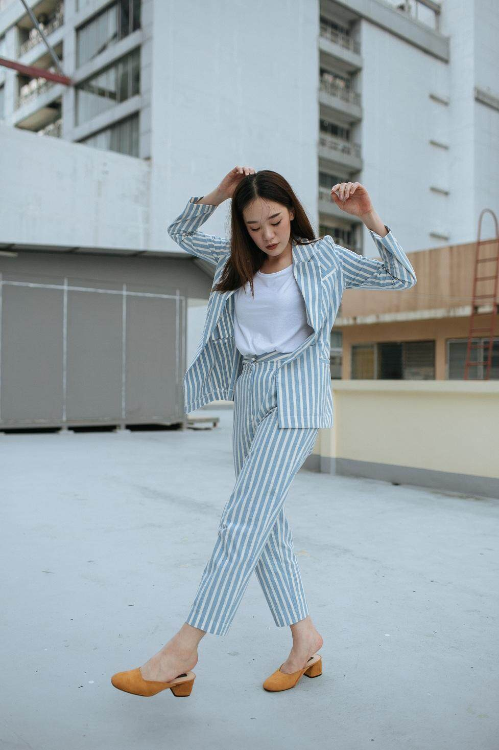 Mandarin Blue - OLIVIA PANTS SET