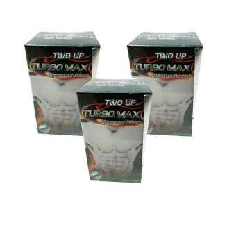 Two up By Turbo max ผลิตภัณฑ์เสริมอาหารสำหรับผู้ชายโดยเฉพาะ (3 กระปุก กระปุกละ 60 แคปซูล)-
