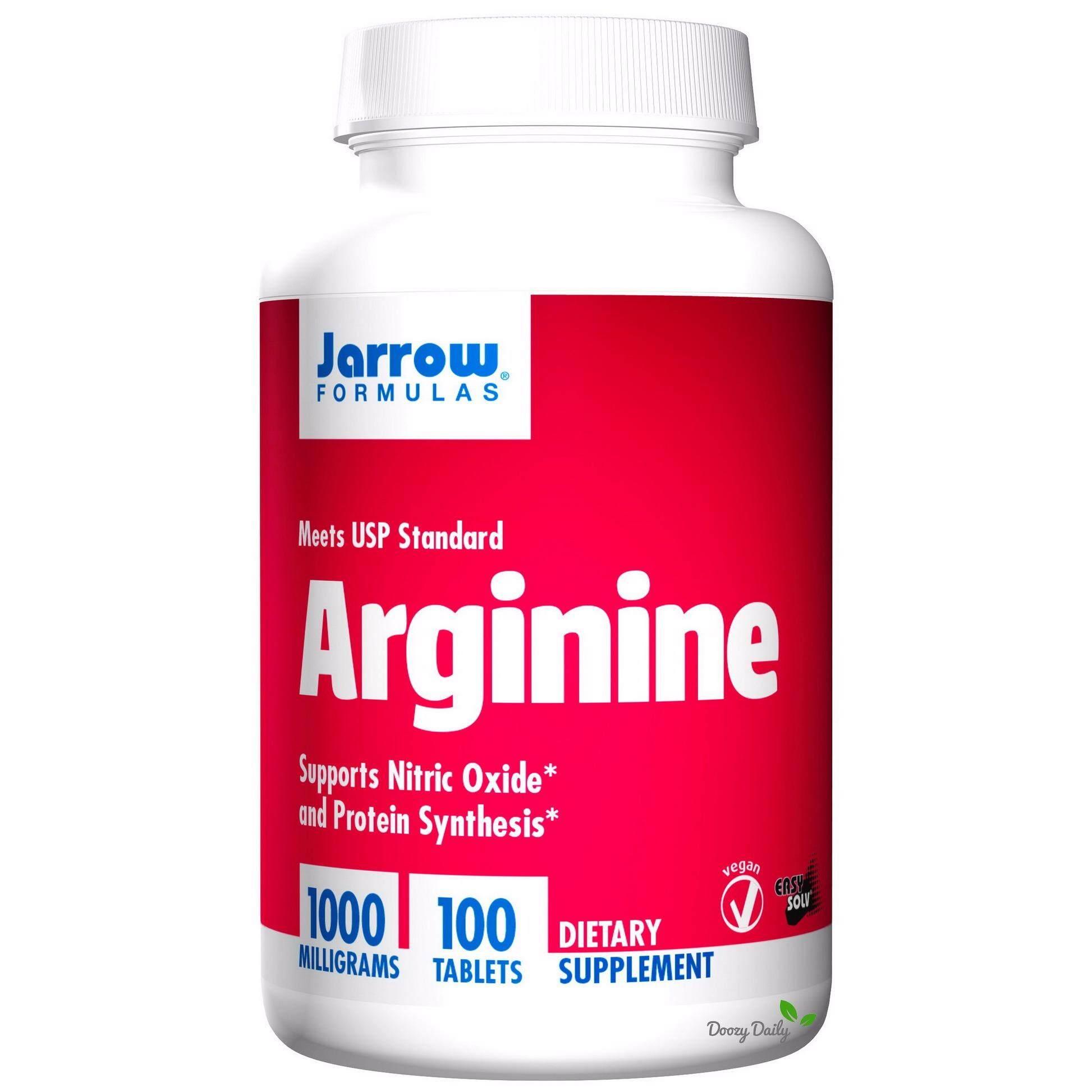 Jarrow Formulas L-Arginine 1000 mg x 100 เม็ด อาร์จีนีน กรดอะมิโนจำเป็น Essential Arginine