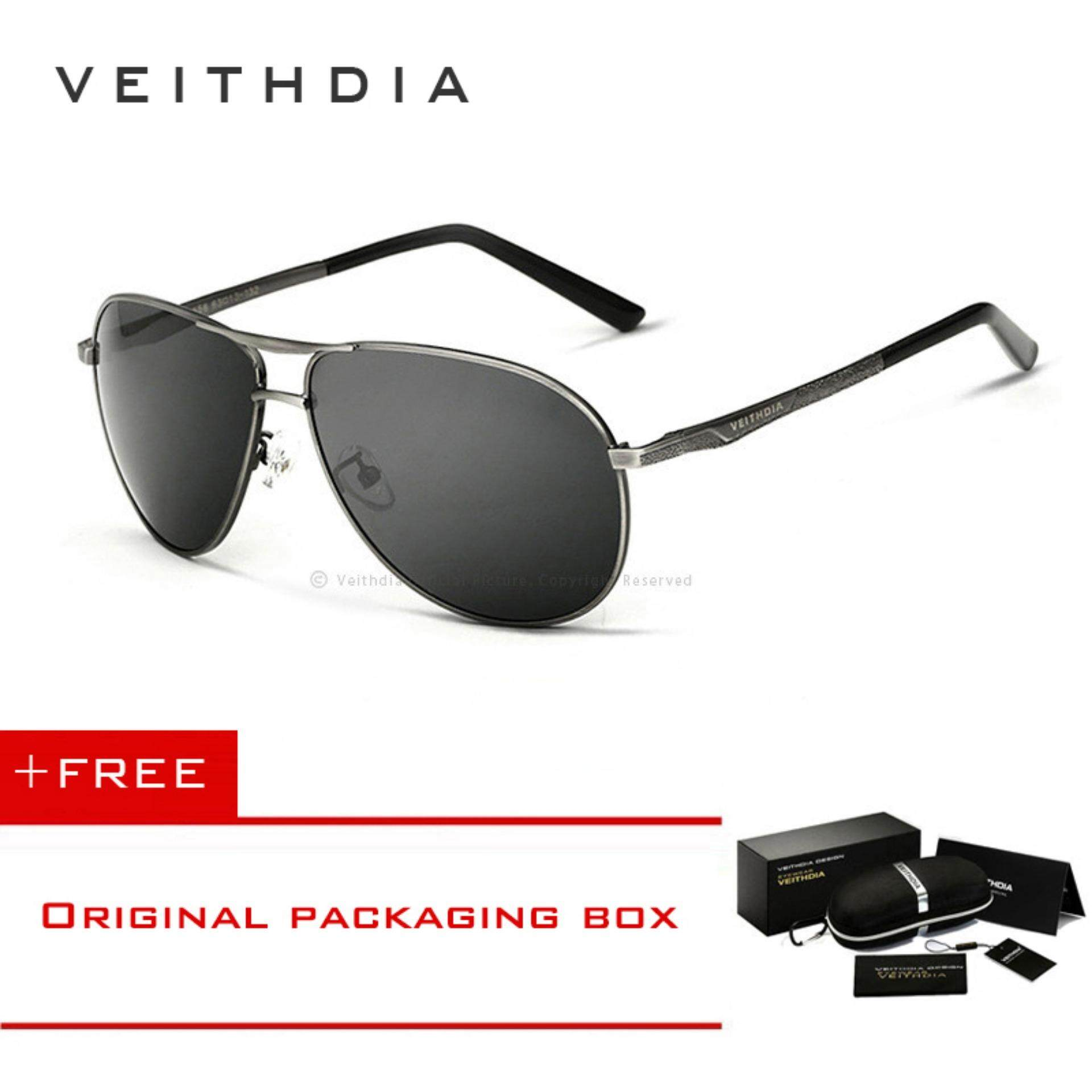 VEITHDIA Brand Classic Fashion Men's Sunglasses Polarized Eyewear Accessories Glasses Men/Women 2556