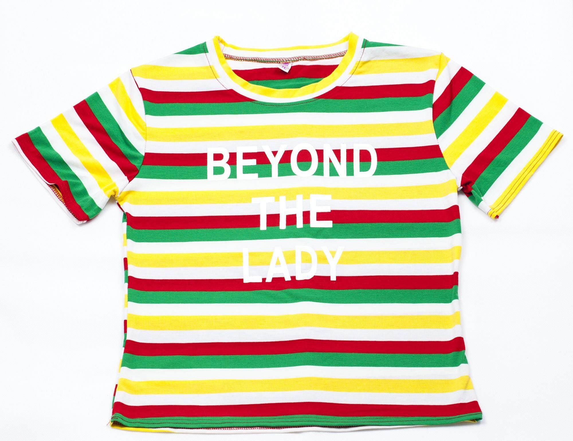 Dumdee Autumn Women Letter Printing T-shirts 2018 Casual Personality Rainbow T-Shirts Women Long Sleeve Tops