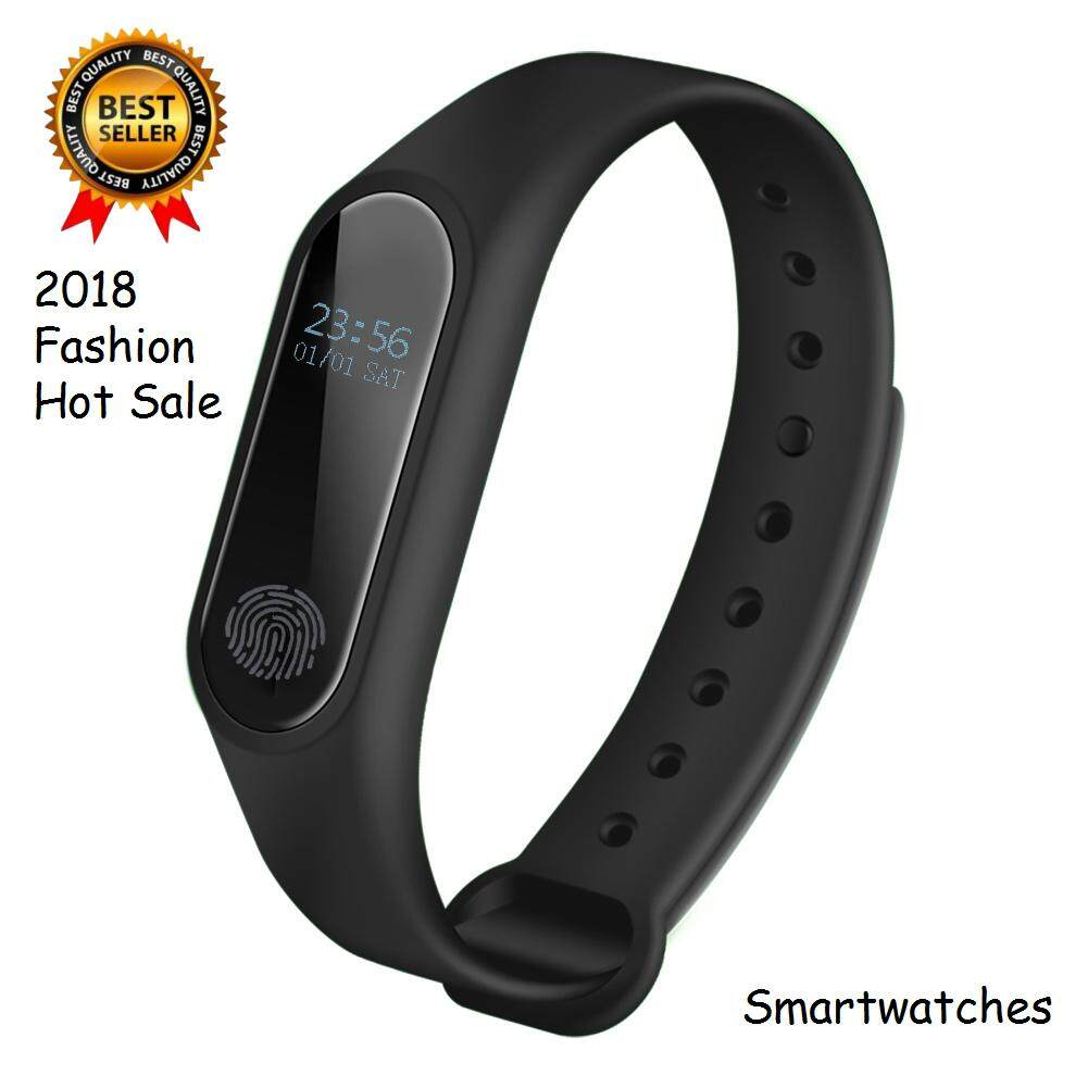 Etouch 2018 Fashion Hot Sale!!!Portable M2 Smart Wristband Sport Wrist Band Waterproof DC 5V 0.42 Inches Screen Running Fitness Tracker Bluetooth Wristband Smartwatches