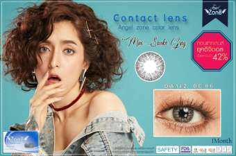 Angel Zone Color Contact Lens รุ่น  Mini Savika Gray-