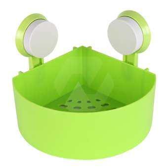 HAKONE ตะกร้าติดผนัง ตะกร้าใส่ของในห้องน้ำ ตะกร้าติดมุม ตะกร้าใส่ของในครัว ตะกร้าพลาสติก plastic corner storage holder with sucker New Step Asia Homehuk โฮมฮัก-