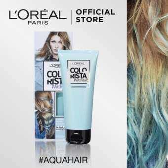 แนะนำ ลอรีอัล ปารีส คัลเลอร์ริสต้า วอชเอาท์ สี AQUA HAIR L'OREAL PARIS COLORISTA WASHOUT AQUA HAIR (Colorista, เปลี่ยนสีผมชั่วคราว, ทำสีผม, ไฮไลท์)