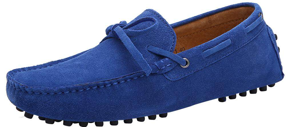 KAILIJIE Men's Casual Suede Leather Outdoor Boat Shoes Driving Moccasins Slip-On Loafers