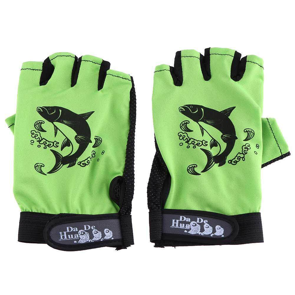 1 Pair Skidproof Resistant 3 Fingers Cut Cycling Fishing Rod Anti-Slip Gloves - intl