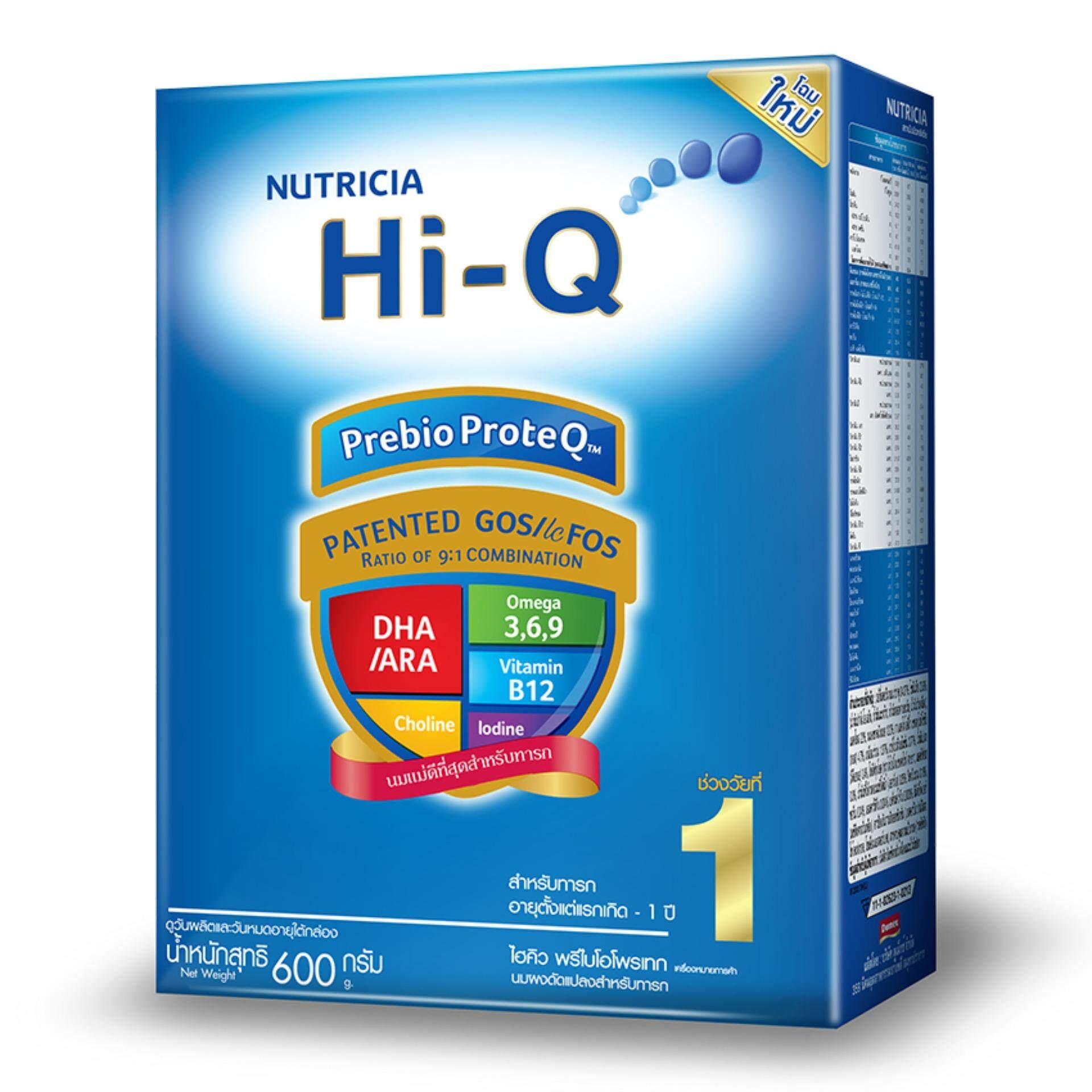 ซื้อที่ไหน HI-Q ไฮคิว นมผงสำหรับเด็ก ช่วงวัยที่ 1 พรีไบโอโบรเทก รสจืด 600 กรัม
