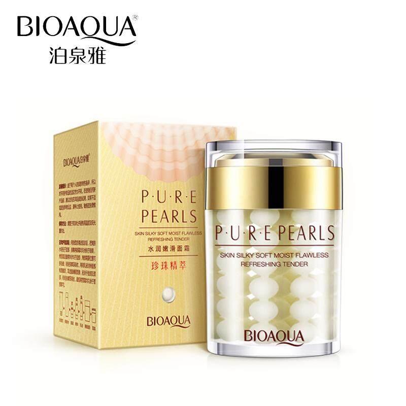 ข้อมูล Bioaqua PURE Pearls Cream 60g. 1 ชิ้น ครีมบำรุงผิวหน้า ลดรอยหมองคล้ำ จากสารสกัดไข่มุกธรรมชาติ ครีมหน้าใสจากธรรมชาติ