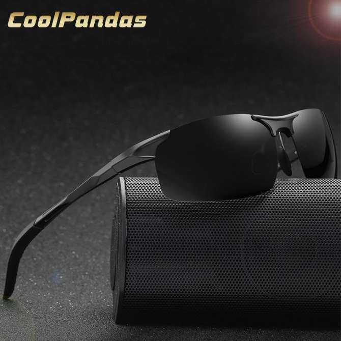 Men Polarized Sunglasses Aviation Aluminum Magnesium HD Sun Glasses Fishing Driving Rectangle Rimless Shades With Original Case