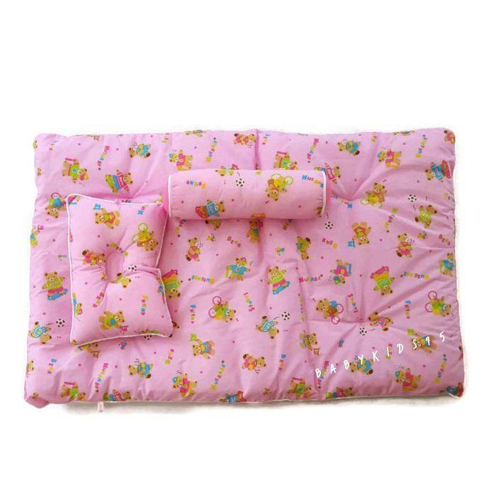 BABYKIDS95 ที่นอนเด็กอ่อน หมอนข้างเสียงกระดิ่ง หนานุ่ม ซักได้ ใยสังเคราะห์ Picnic Bed - Neubabe