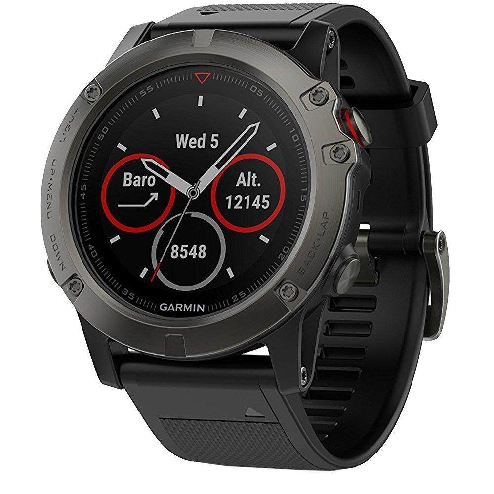 Garmin Fenix 5X Sapphire Edition Multi-Sport Training GPS Watch - [Slate Gray with Black Band]
