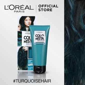 ลอรีอัล ปารีส คัลเลอร์ริสต้า วอชเอาท์ สี TURQUOISE HAIR L'OREAL PARIS COLORISTA WASHOUT TURQUOISE HAIR (Colorista, เปลี่ยนสีผมชั่วคราว, ทำสีผม, ไฮไลท์)