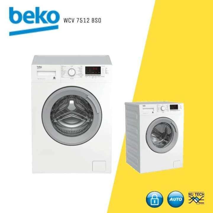 BEKO เครื่องซักผ้าฝาหน้า ขนาด 7 kg. รุ่น WCV7512 BSO (ส่งฟรี)