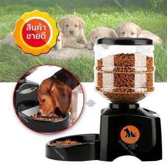 Digital Pet feeder ที่ให้อาหารสุนัข แมว แบบอัตโนมัติ ชามอาหารสัตว์เลี้ยง ตั้งเวลาได้ ขนาดบรรจุ 5.5 -