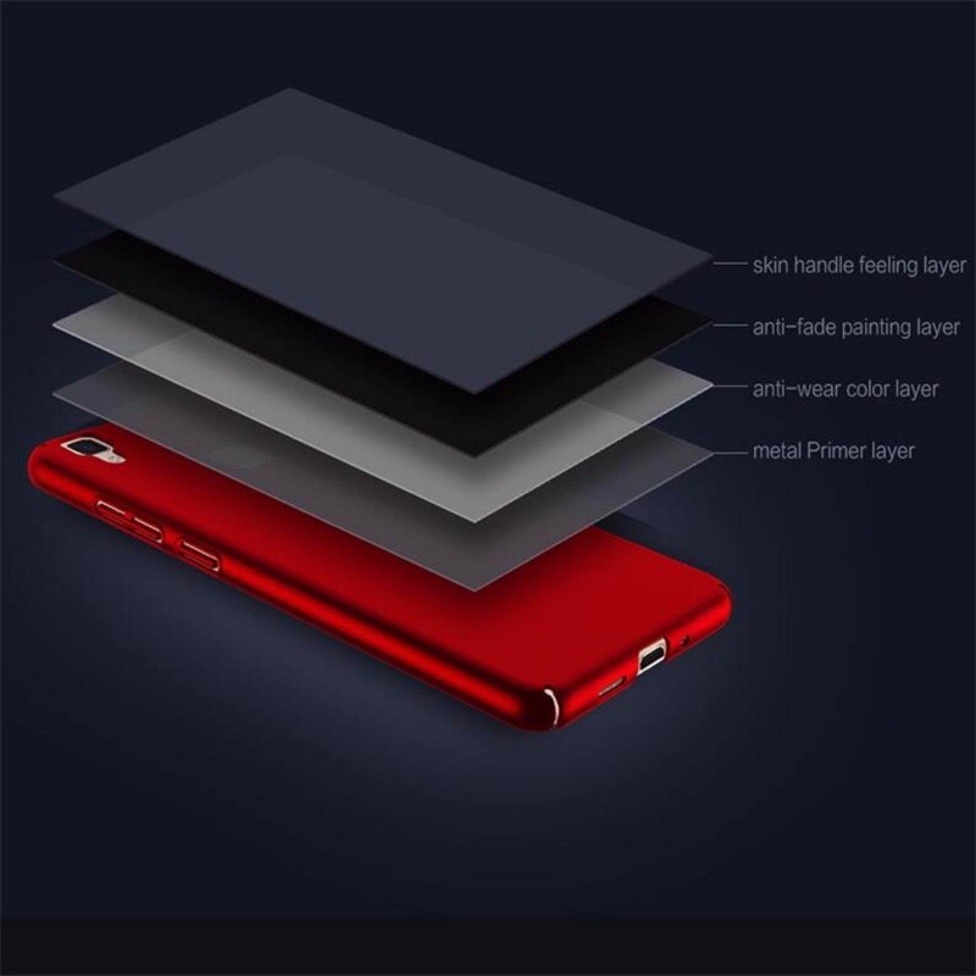 Super Hard PC Ultrathin Cover Protect Case For Vivo V3 Scrub Phone Cases(Red)