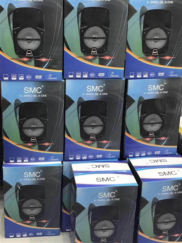 ขายดีที่สุด ลำโพงแบบพกพา BT SMC ตู้ลำโพงขยายเสียง ลำโพงช่วยสอน 8 นิ้ว+ไมโครโฟนไร้สาย 100 WATT แบตเตอรี่ในตัว ฺ USB SDcard เชื่อมต่อ Bluetooth เคลมสินค้าได้