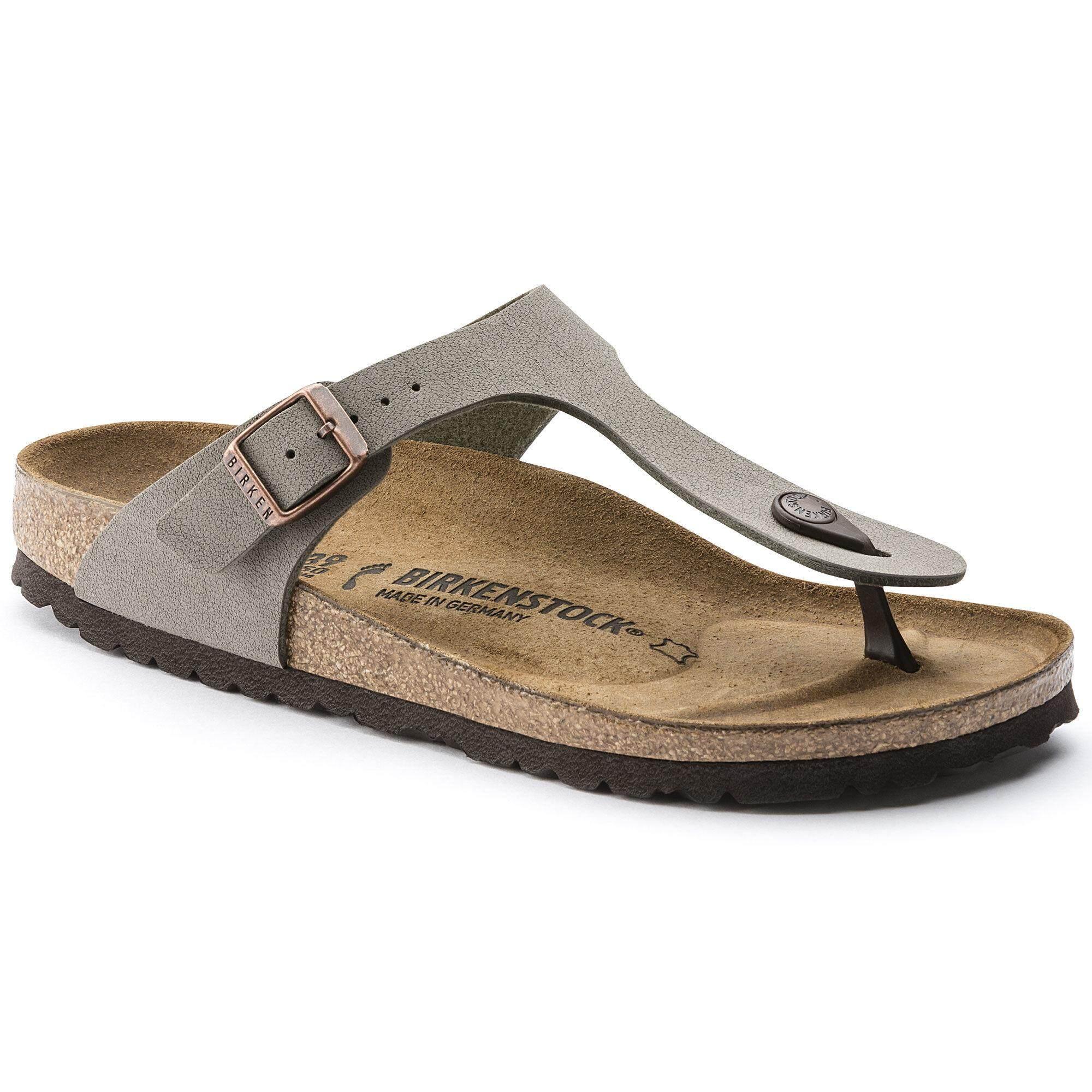 726b82049517 2019 Birkenstocks Women Sandals Women Thong Gizeh Birko-Flor Nubuck Stone  Hot