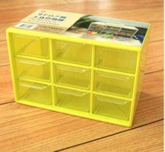 กล่องลิ้นชักพลาสติก(++ส่งฟรี++) มี 3 ชั้น 9 ช่องลิ้นชัก (กยส = 9 x 17.5 x 11.5 cm) เก็บของจุกจิกเป็นระเบียบ