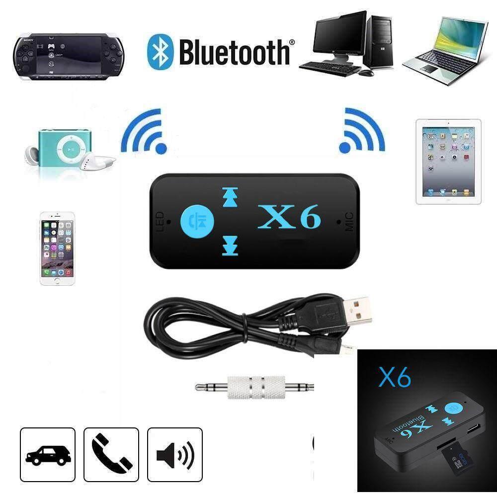 มีของแถ ส่งฟรี เครื่องเสียงและโฮมเธียร์เตอร์ Unbranded/generic X6 Bluetooth Music Receiver Adapter 3.5mm TF Card Support Car Audio Receiver ของแท้ ราคาถูก