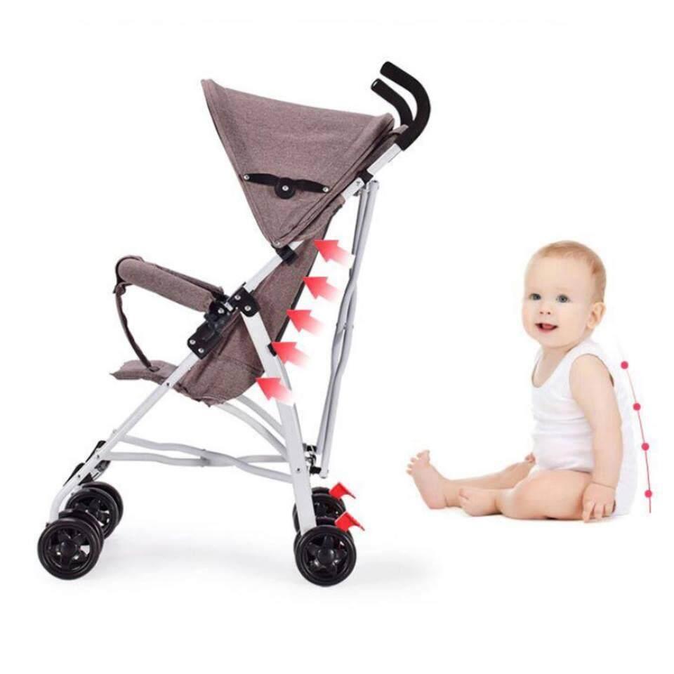 มาใหม่ KAKUKI รถเข็นเด็กแบบนอน รถเข็นเด็ก Baby car stroller รถเข็นเด็กปรับระดับได้ รุ่นTC001 ลดราคาเกินครึ่ง