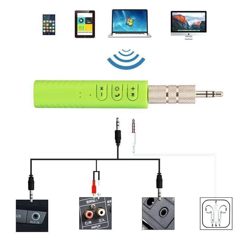 โปรโมชั่นลดราคา เครื่องเสียงและโฮมเธียร์เตอร์ Bluetooth Music Receiver Huayi (หัวอี้) ตัวรับสัญญาณบูลทูธ บลูทูธในรถยนต์ เปลี่ยนลำโพงธรรมดาเป็นลำโพงบูลทูธ Car Bluetooth AUX 3.5mm Jack Bluetooth Receiver Handsfree Call Bluetooth Adapter Car Transmitter Auto Music Receivers ขายถูกๆ ส่งฟรี