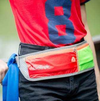 GoTrek B-01W กระเป๋าคาดเอว กระเป๋าวิ่ง ผ้ากันน้ำ ระบายอากาศดี แถมผ้าเช็ดเหงื่อ