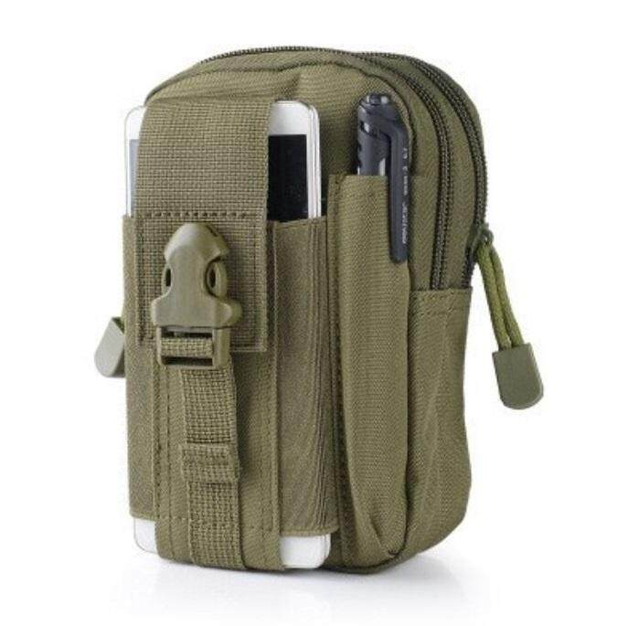 Molle กระเป๋าคาดเอว กระเป๋าใส่ของ กระเป๋ายุทธวิธี Outdoor Camping Bag Hiking Pouch Military Army Waist Pack with Belt Loop