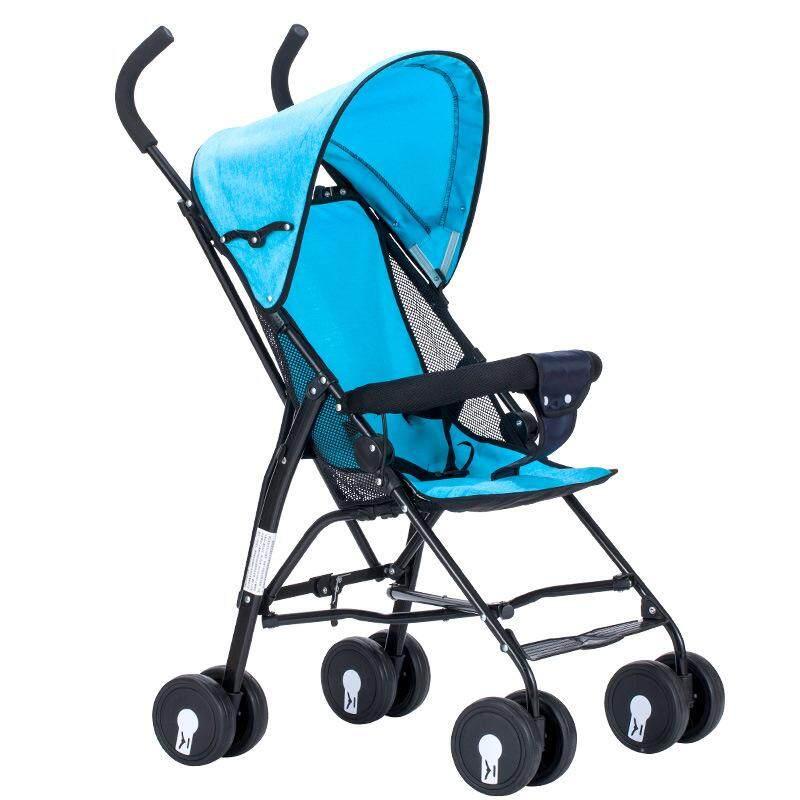 อยากถามคนที่ใช้ รถเข็นเด็กแบบนอน รถเข็นเด็กทารกแบบพกพาพับน้ำหนักเบาเด็กวัยหัดเดินท่องเที่ยว   ฟรีมุ้งคร้า  Baby Stoller  รถมันมีปุ่มกดพับได้ด้วย รถพับเก็บไว้ได้  สีฟ้า Blue ร้านที่เครดิตดีที่1