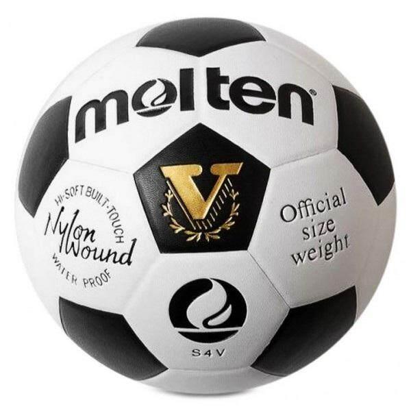 ชุมพร Molten ฟุตบอลFootball MOT PVC S4V - White/Black ไซส์ เบอร์4