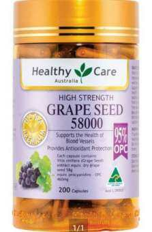 Healthy care grape seed 58000 mg 200 capsules